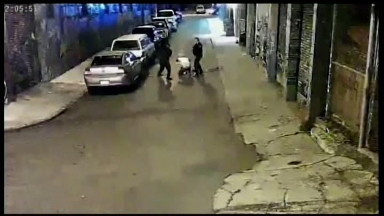 This image from surveillance video shows Alameda County Sheriffs deputies allegedly beating Stanislav Petrov in San Francisco on November 12, 2015.
