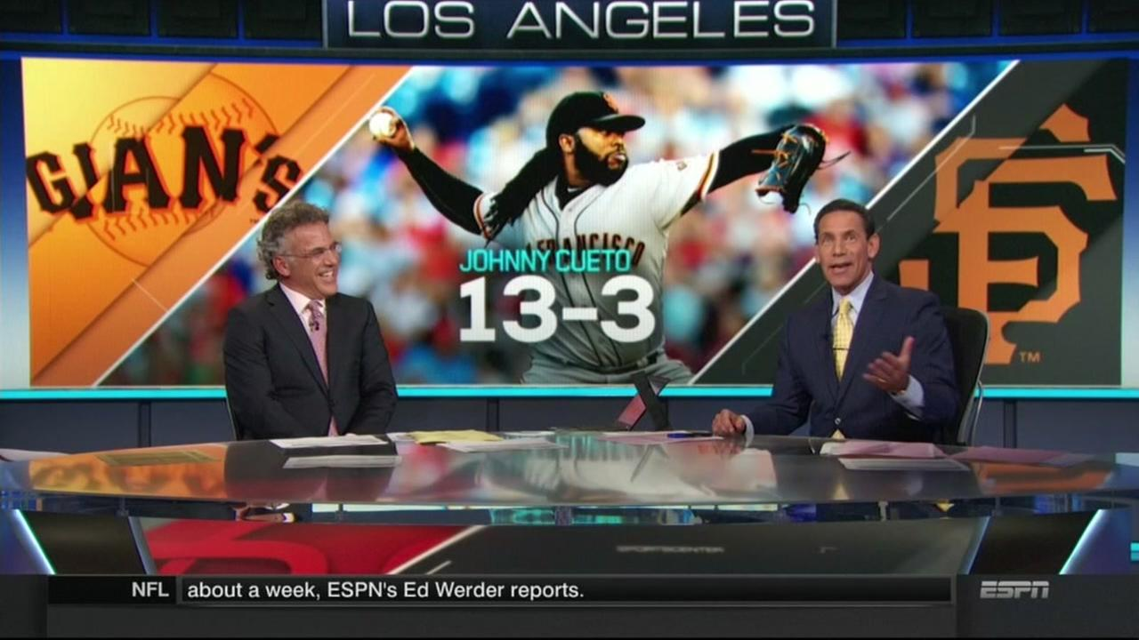 ABC7s Larry Beil co-hosts ESPNs SportsCenter in Los Angeles on Wednesday, August 4, 2016.