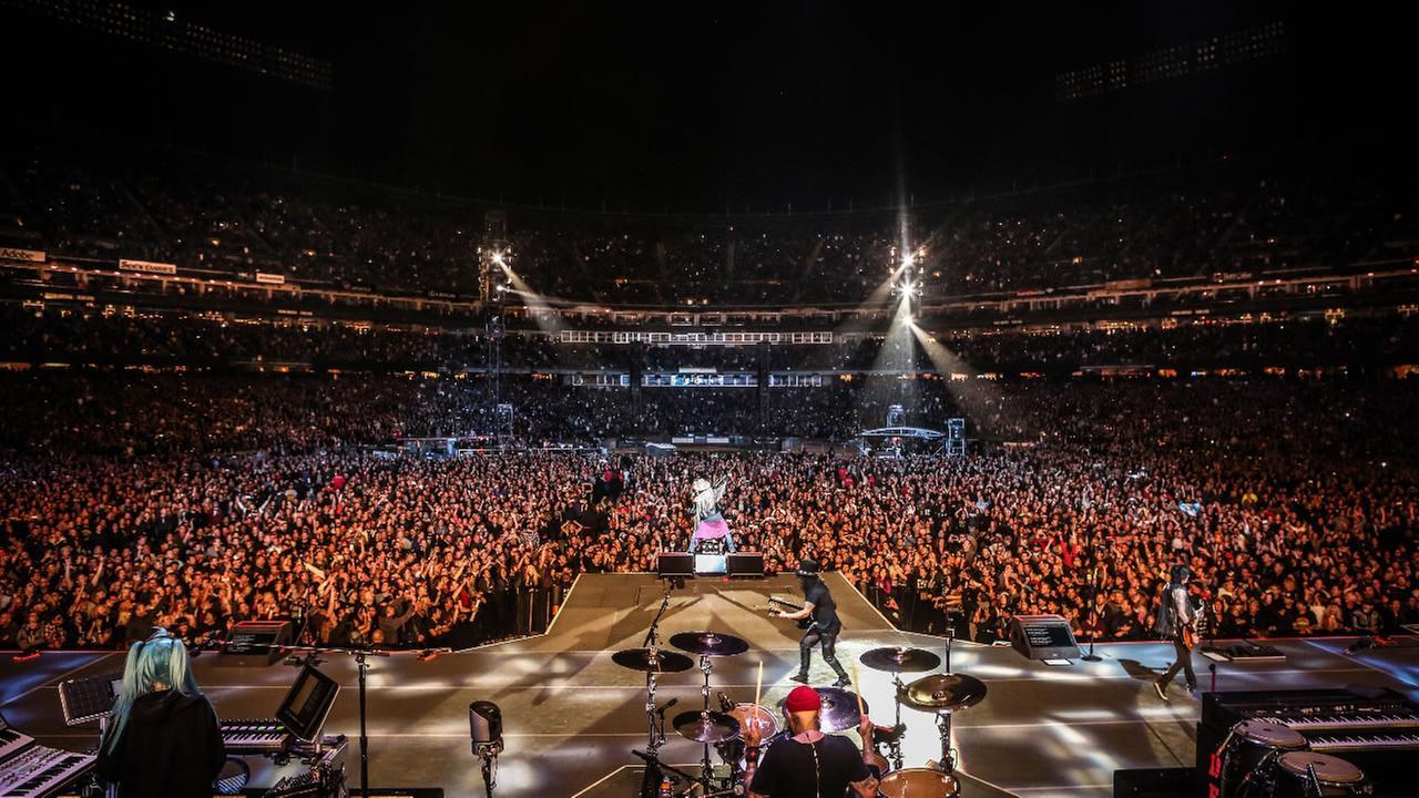 Guns N Roses play AT&T Park in San Francisco Tuesday, August 9, 2016.Katarina Benzova