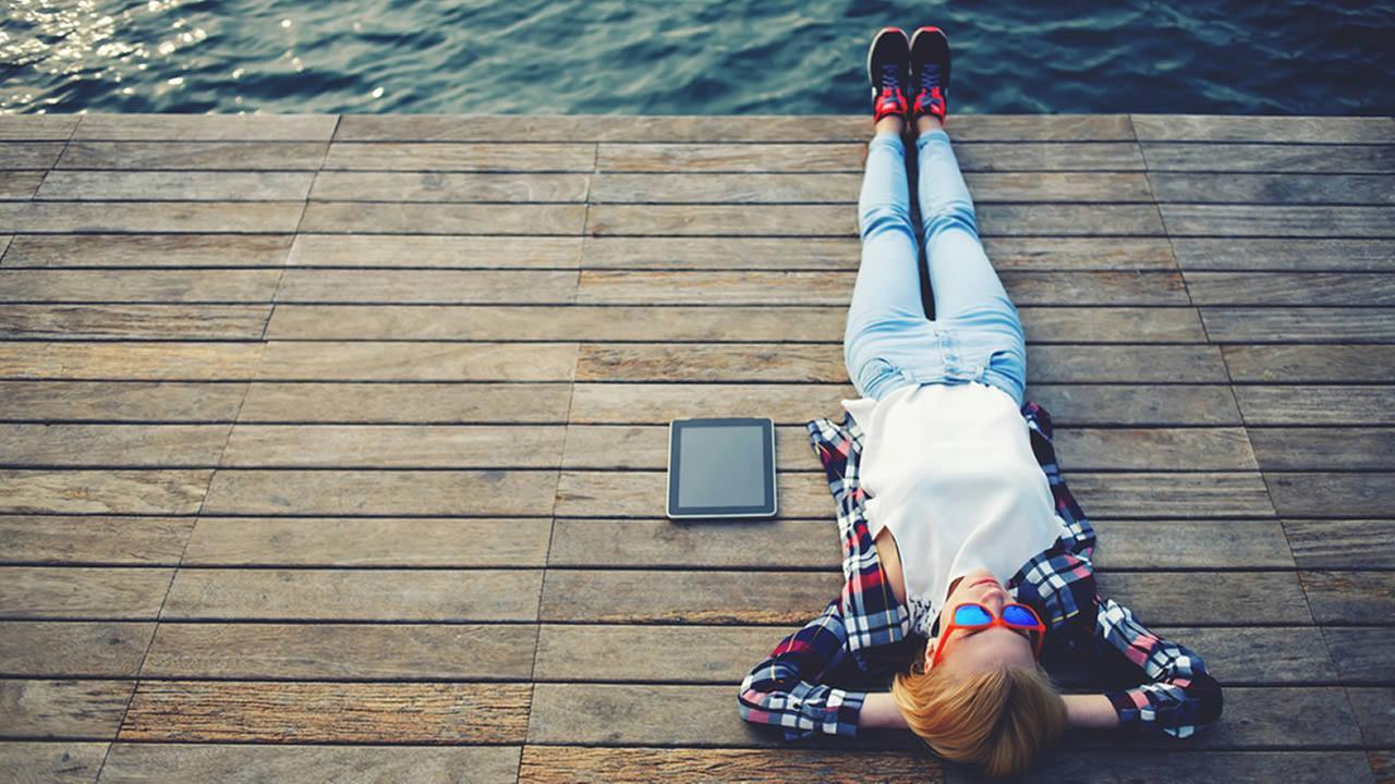 Relaxed girl.