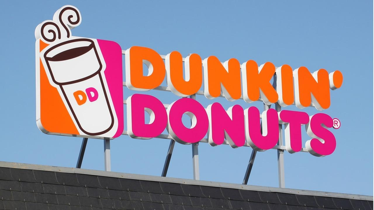 A Dunkin Donuts sign is seen in Wasserbillig, Luxembourg on April 20, 2015.