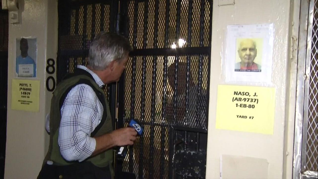 ABC7 News I-Team Reporter Dan Noyes speaks to convicted killer Joe Naso at San Quentin State Prison in San Quentin, Calif. on Monday, August 15, 2016.