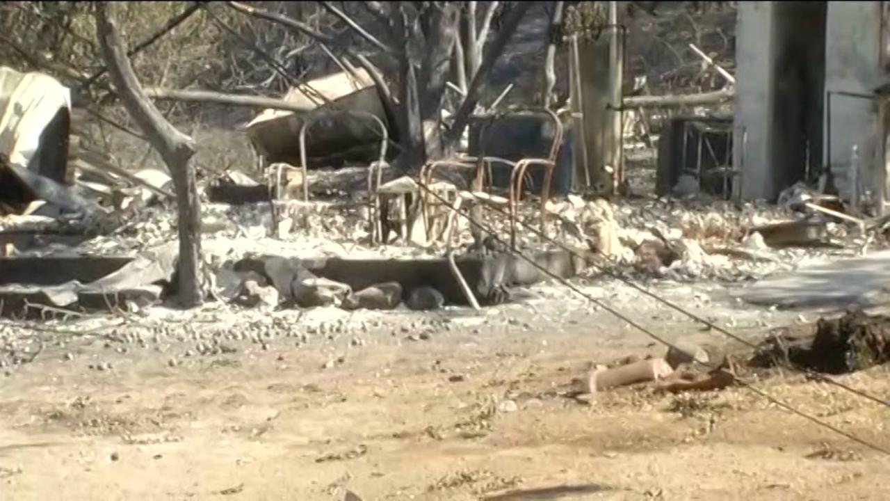 This image shows the destruction caused by the Clayton Fire on August 16, 2016 in Upper Lake, Calif.KGO-TV