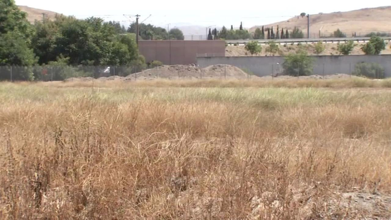 This piece of land at Evans Lane and Curtner Avenue in San Jose, Calif. is the planned site for temporary homes for the homeless.