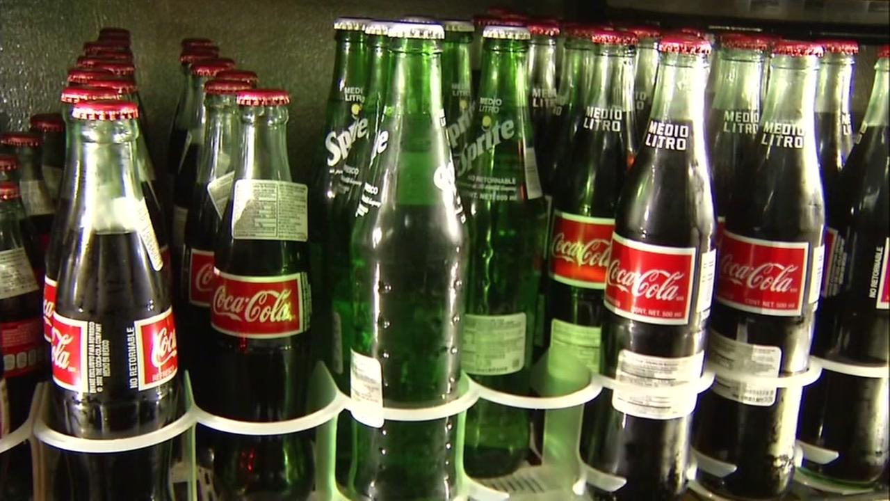 This undated image shows Coca-Cola bottles at a store in the Bay Area.
