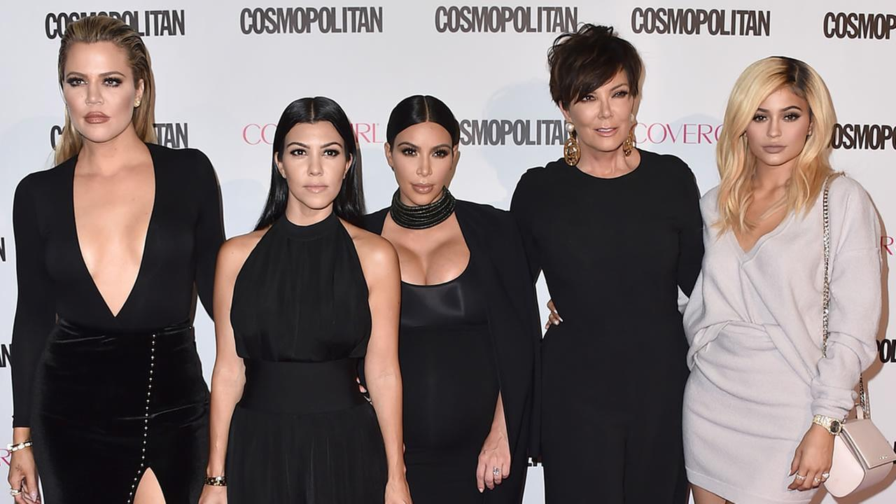 From left to right: Khloe Kardashian, Kourtney Kardashian, Kim Kardashian, Kris Jenner, Kylie Jenner are seen on Monday, Oct. 12, 2015, in West Hollywood, Calif. (Photo by Jordan Strauss/Invision/AP)