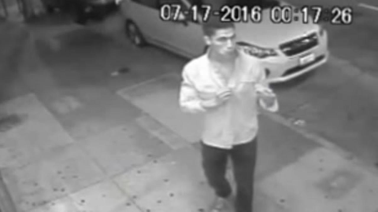 Surveillance footage shows a man who San Francisco police say bit off a bartenders finger.