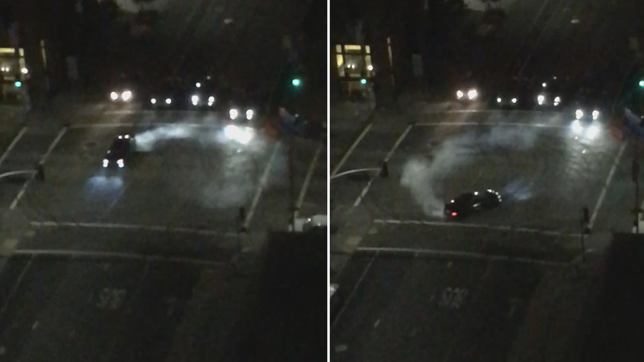 This images from video show an apparent sideshow in San Francisco on Monday, August 22, 2016.