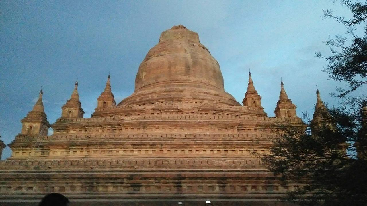 This photo provided by Soe Thura Lwin shows a damaged temple in Bagan, Myanmar, on Wednesday, Aug. 24, 2016.
