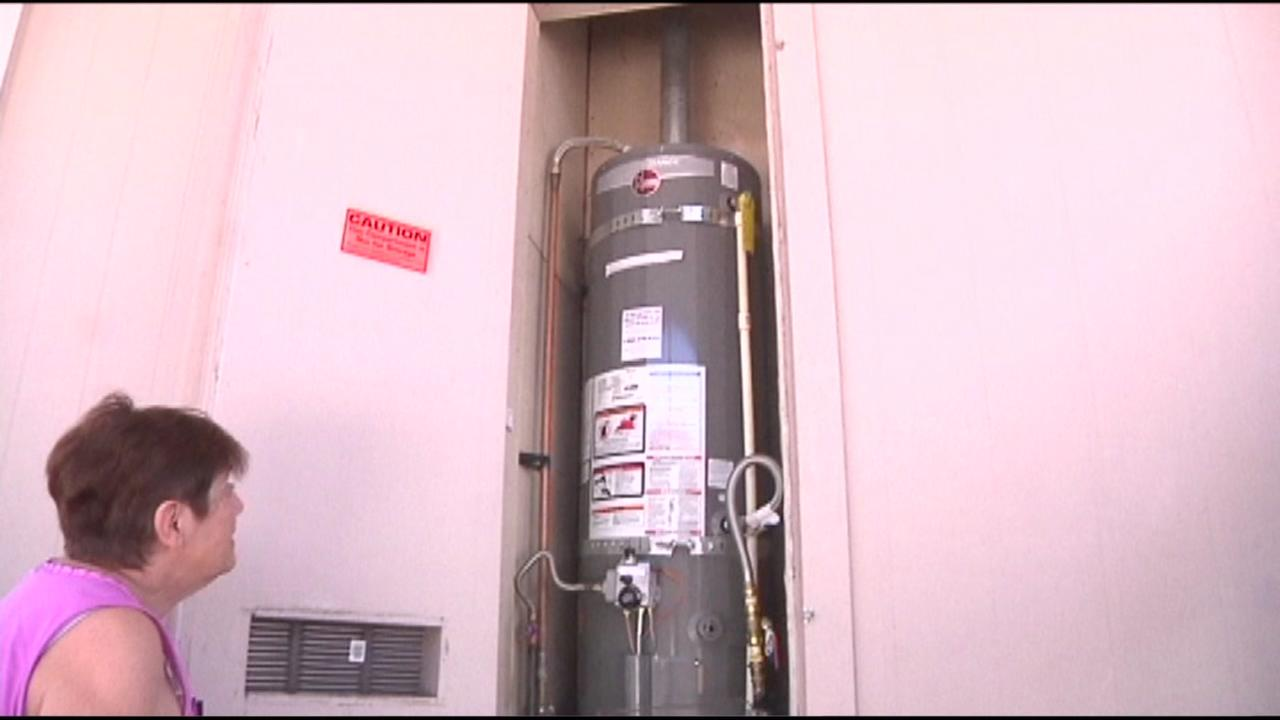 This image shows a water heater that was installed in a Sunnyvale womans home