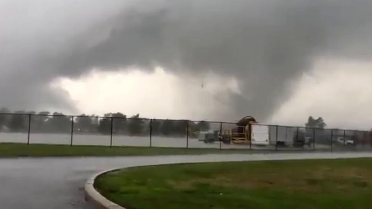 This image made from a video shows a tornado Wednesday, Aug. 24, 2016, in Kokomo, Ind.