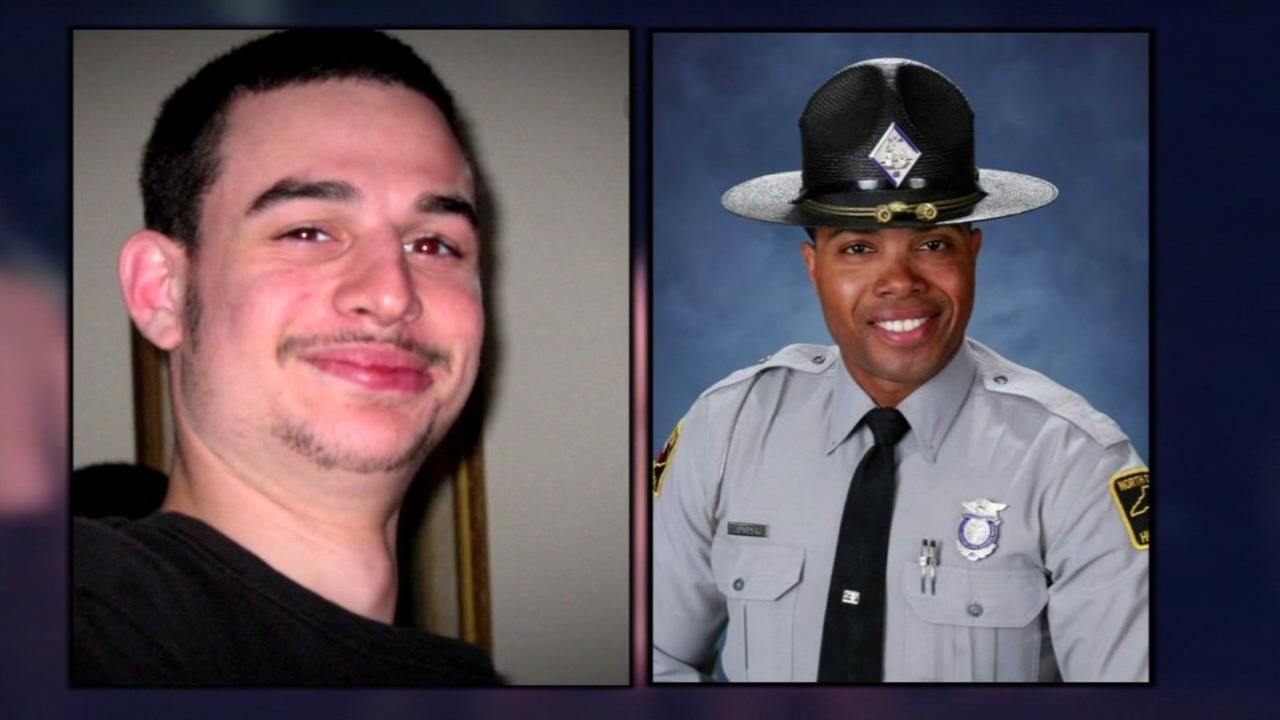 From left to right: Daniel Harris and Trooper Jermaine Saunders.