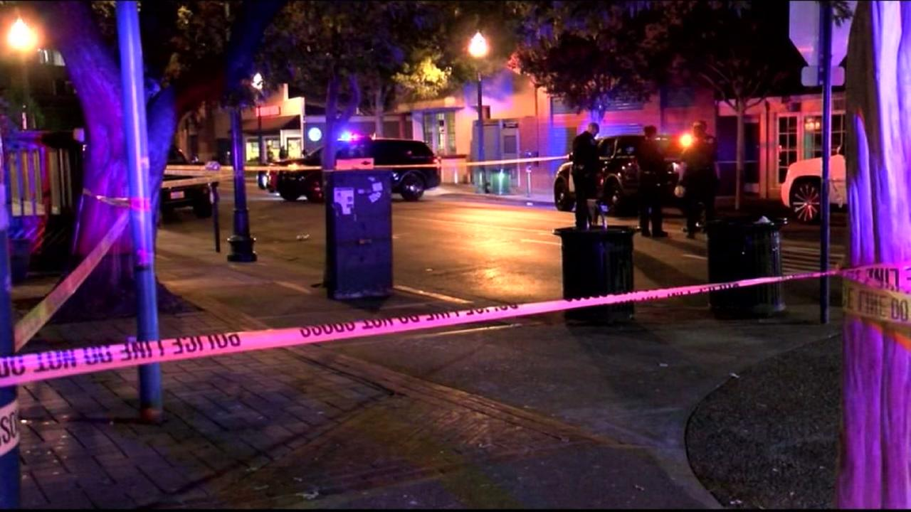 Police are investigating a fatal shooting in downtown Walnut Creek, Calif., on Saturday, August 27, 2106.