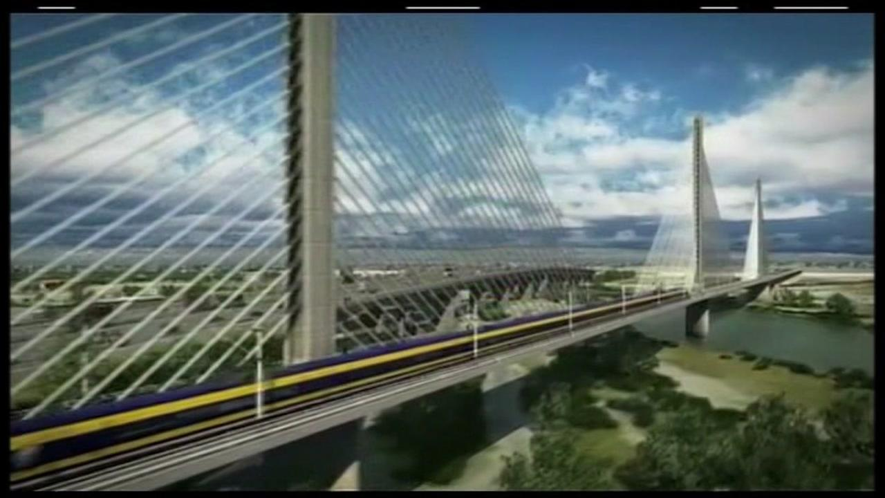This computer-generated image shows what the high-speed rail project would look like.