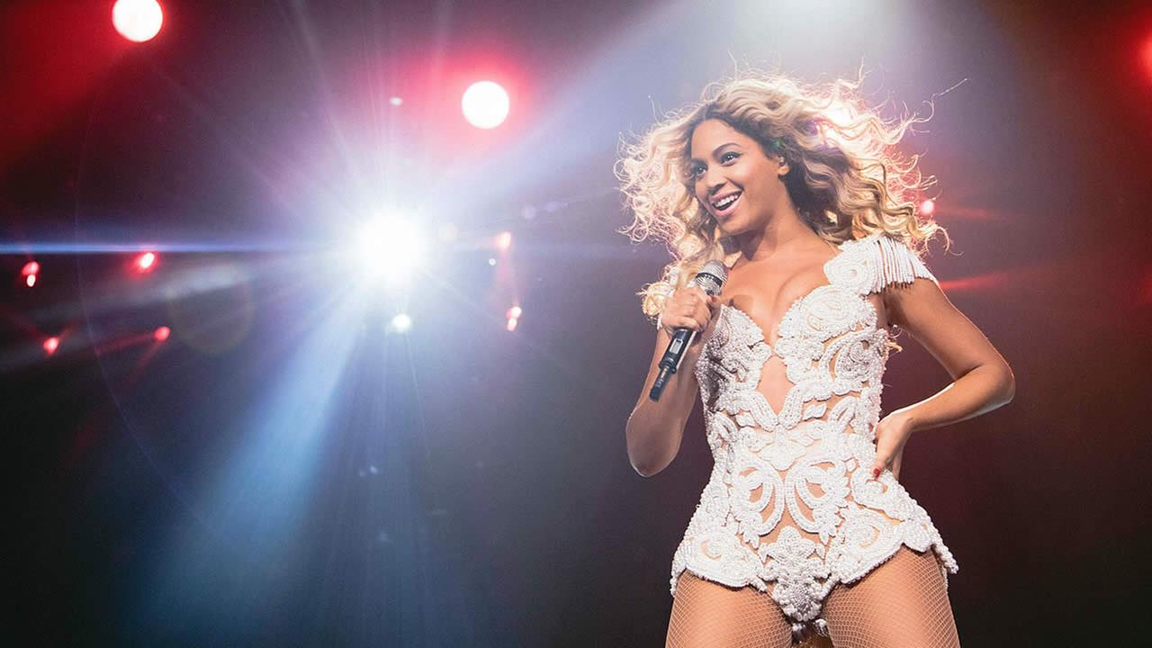 Beyonce performs onstage at her Mrs. Carter Show World Tour 2013, on December 7, 2013 in Phoenix, Arizona. (Photo by Robin Harper/Invision for Parkwood Entertainment/AP Images)