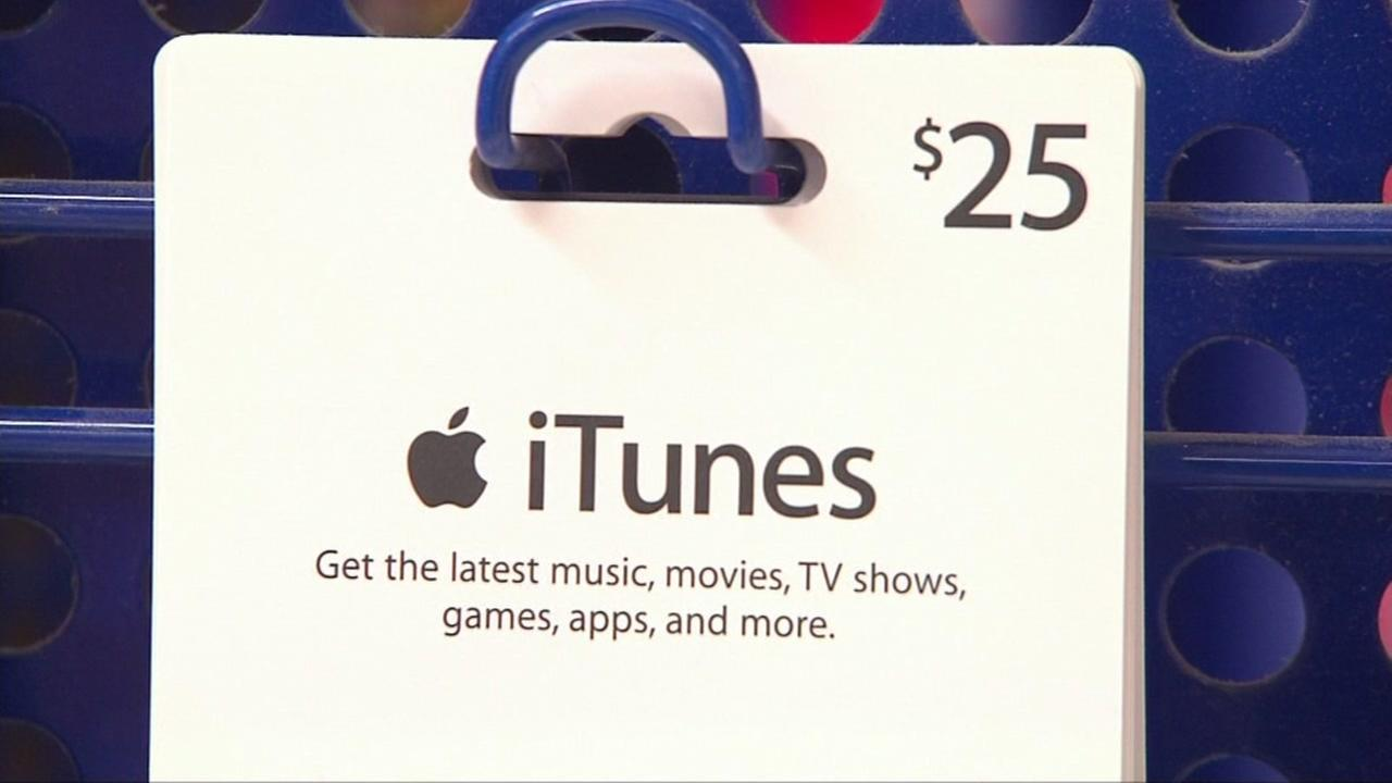 This image shows an iTunes gift card.