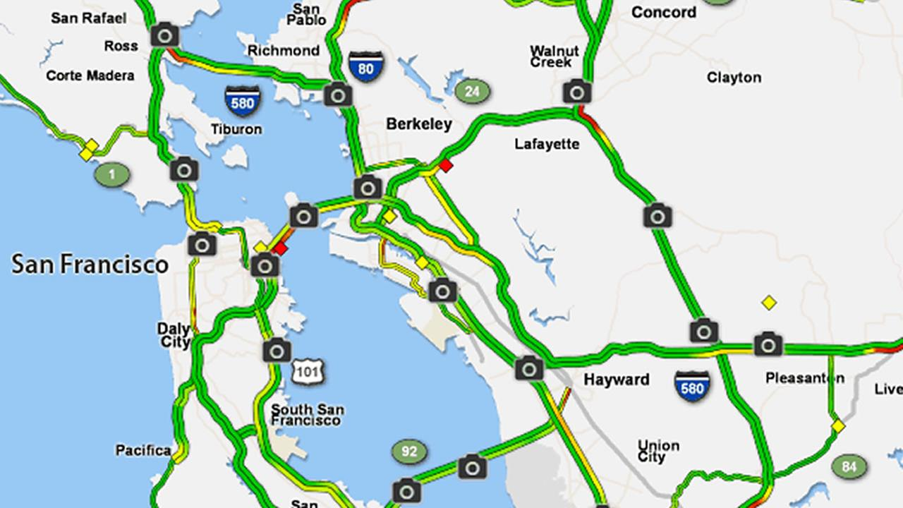 Traffic Map Bay Area Rtlbreakfastclub