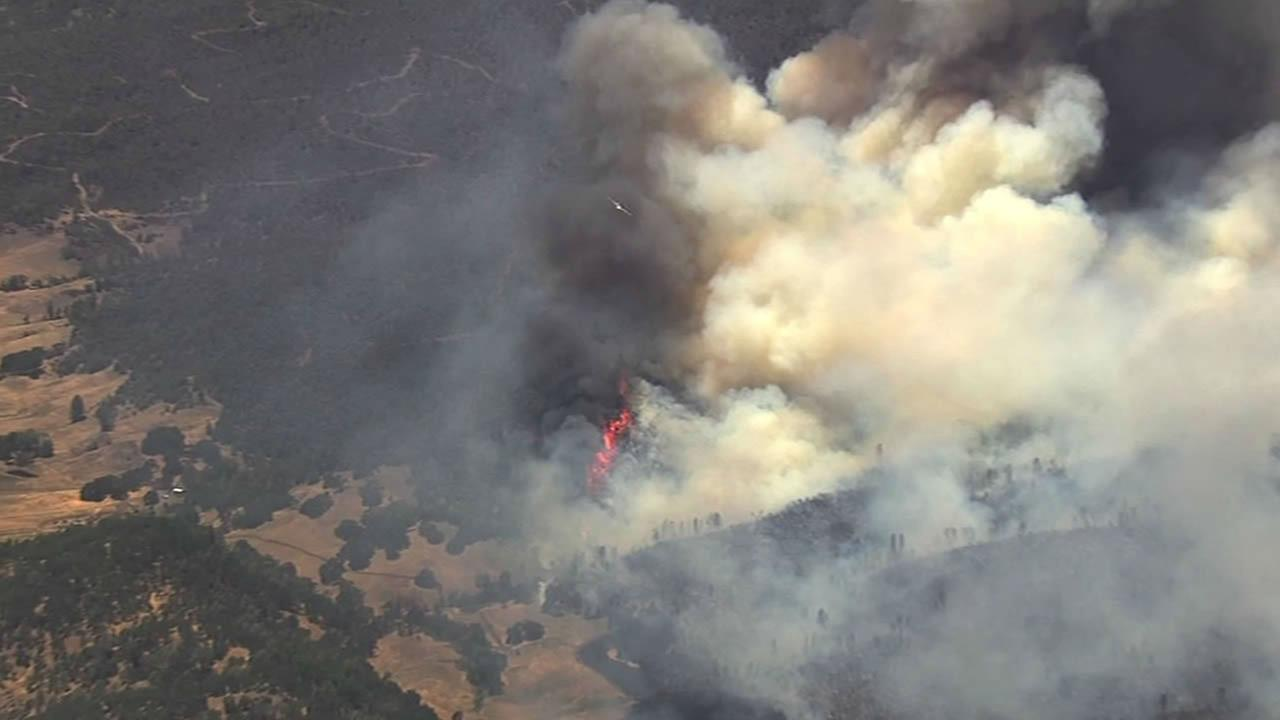 PHOTOS: Vegetation fire in Pope Valley