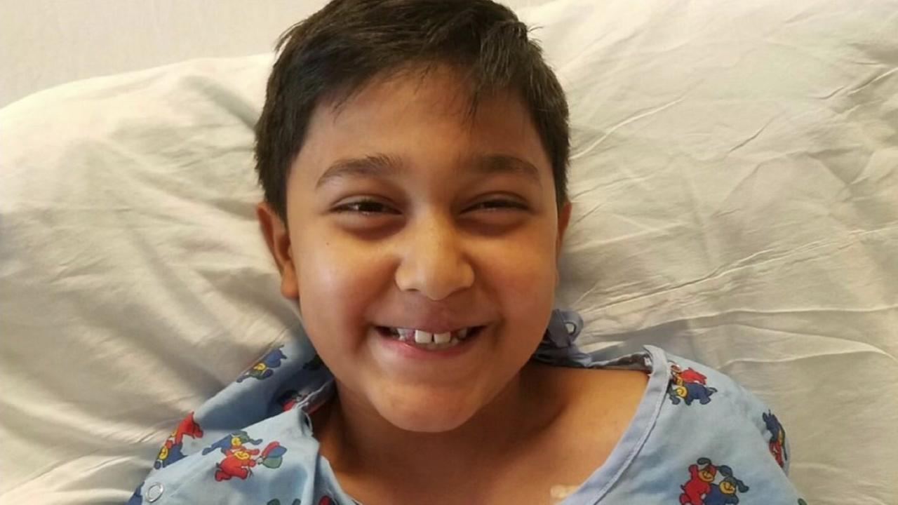 Brendan Singh, 8, is recovering after being bitten by a rattlesnake in the backyard of his home in Concord, Calif. on Wednesday, September 8, 2016.