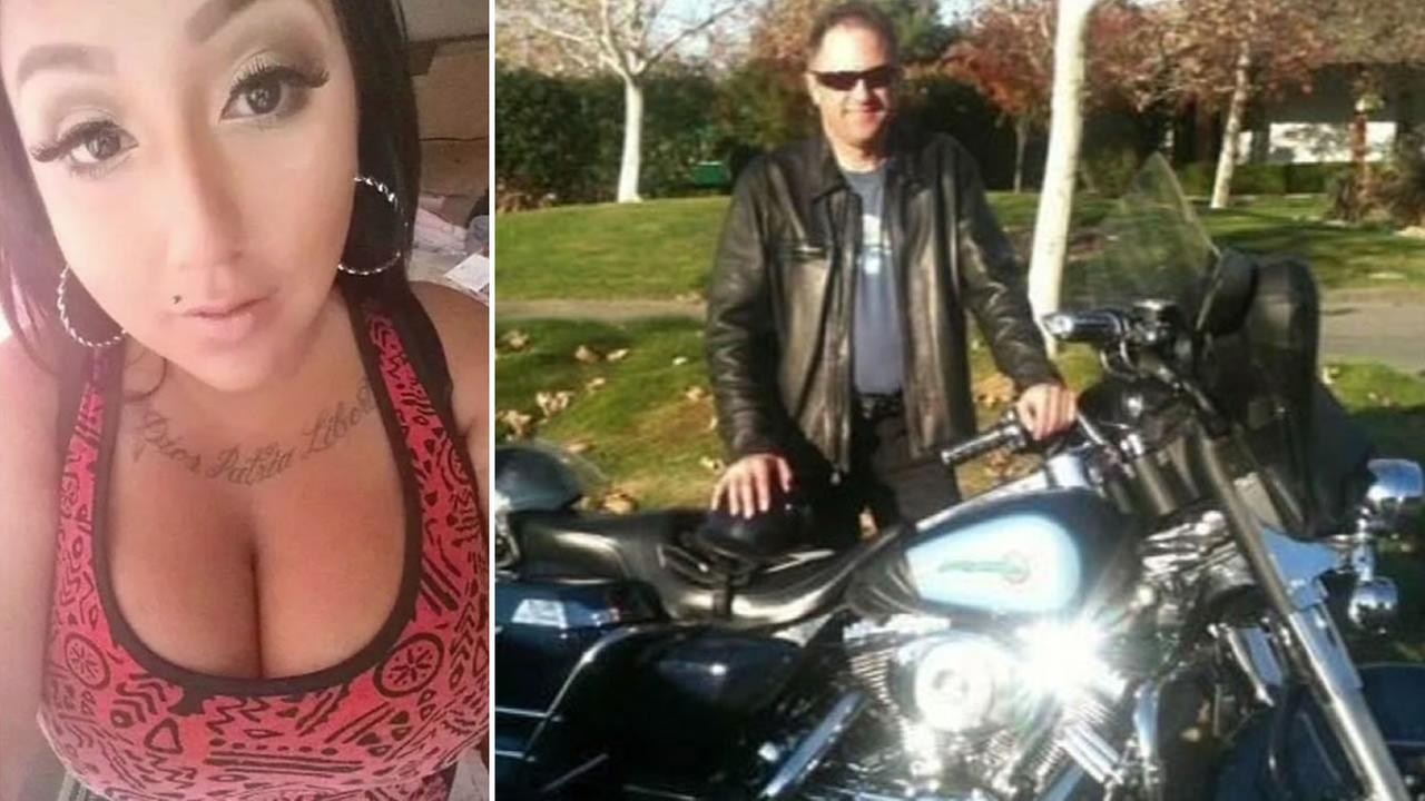 These undated images show the woman known as Celeste Guap and former Livermore Police Officer Dan Black.