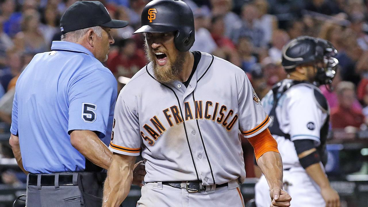 Tomlinson, Giants outlast Diamondbacks 7-6 in 12 innings | abc7news.com