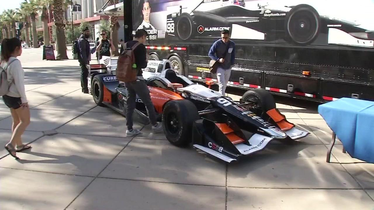 This Honda racecar that just won the Indy 500 was in San Jose, Calif. on Wednesday, September 14, 2016 as a part of the Honda STEAM Connections Tour.