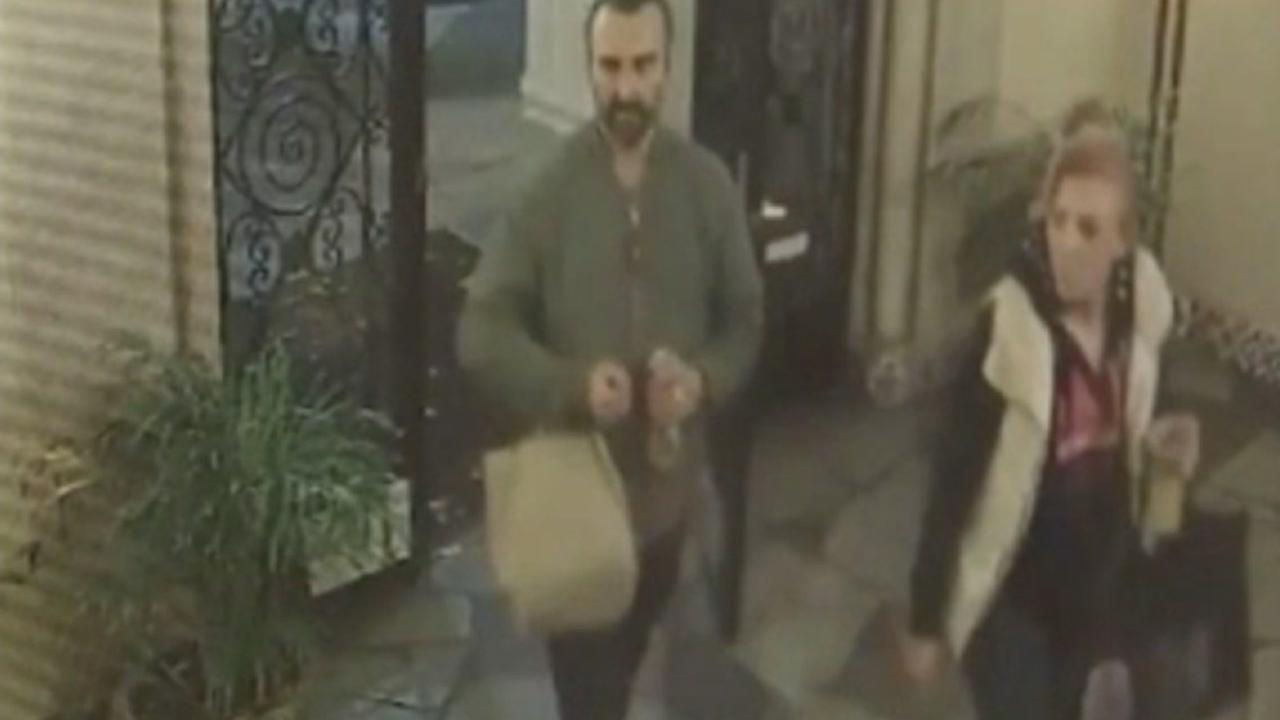 This undated image from 2016 shows two people who allegedly used a master key to enter buildings in San Francisco and steal mail.