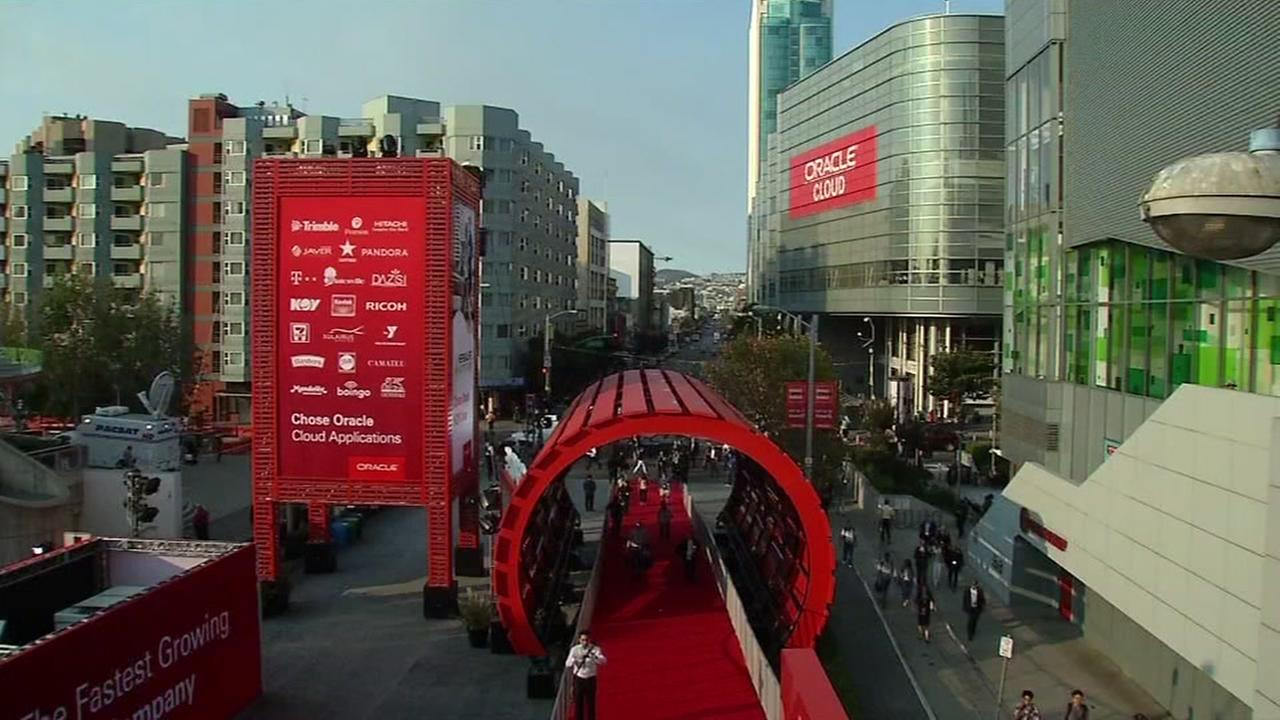 Oracle OpenWorld In San Francisco, California, Monday, September 19, 2016.