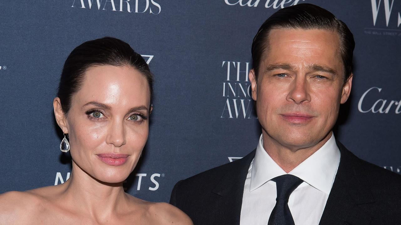 In this Nov. 4, 2015 file photo Angelina Jolie Pitt and Brad Pitt attend the WSJ Magazine Innovator Awards 2015 at The Museum of Modern Art in New York.