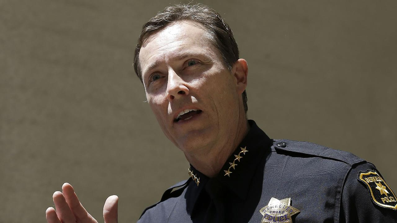 Berkeley Police Chief Michael Meehan speaks at a news conference in Berkeley, Calif., Tuesday, June 16, 2015.
