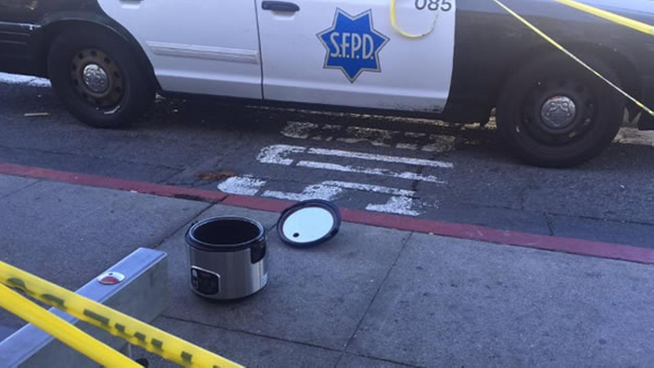 This rice cooker caused a bomb scare at Van Ness and Mission Street in San Francisco on Thursday, September 22, 2016.