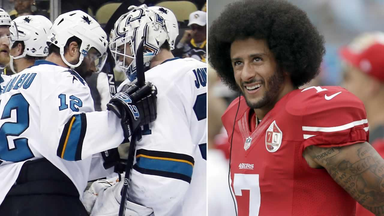The San Jose Sharks discussed Colin Kaepernicks national anthem protest on Friday, September 23, 2016.