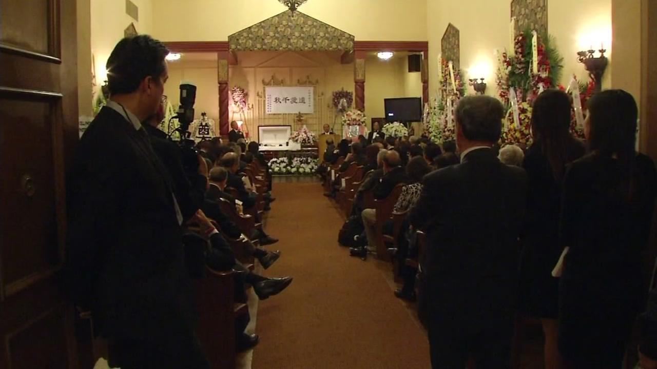 A large crowd gathered in San Franciscos North Beach to attend a wake for longtime political power player Rose Pak on Sept. 23, 2016.