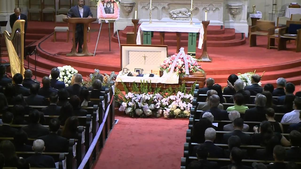 Funeral for one of San Franciscos most influential political activists Rose Pak on Saturday, September 24, 2016.