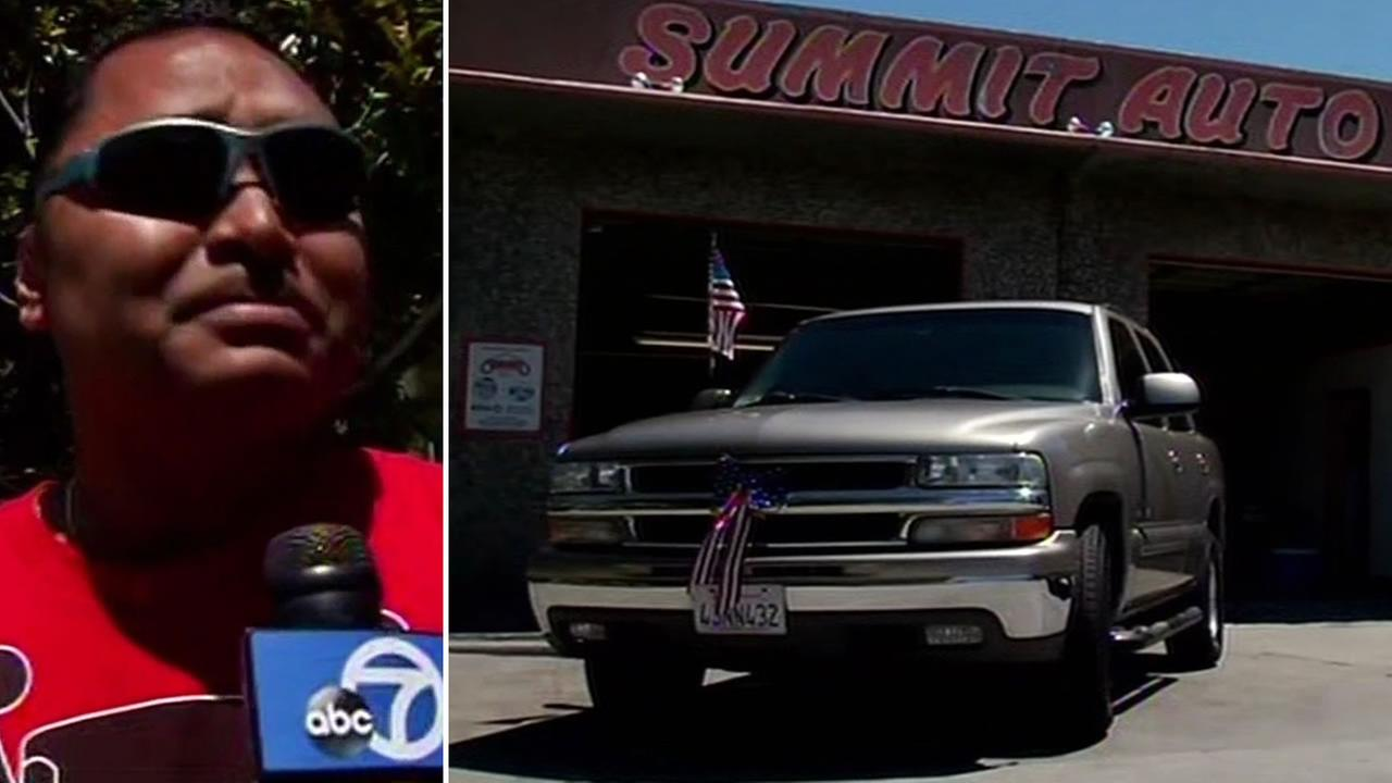 Mechanics in Belmont restore car for Iraq veteran.