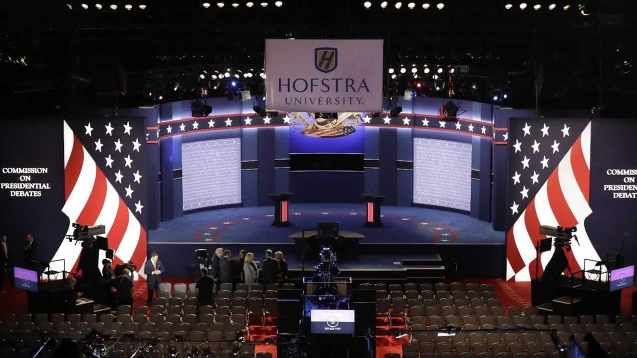 Location of presidential debate between Democratic presidential candidate Hillary Clinton and Republican presidential candidate Donald Trump at Hofstra University in Hempstead, NY.