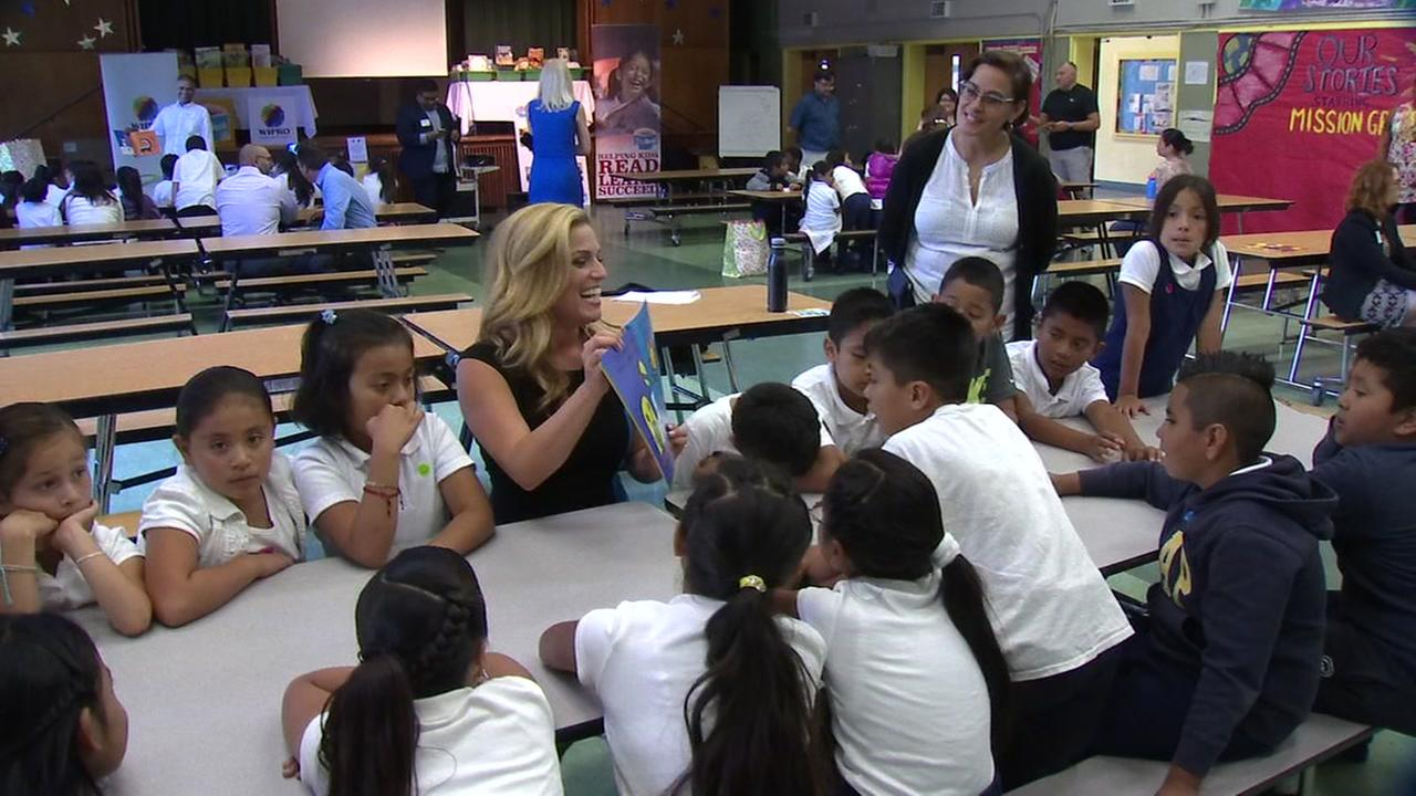 ABC7 Traffic Report Alexis Smith reads to students at SFUSDs Bryant Elementary School in San Francisco on Tuesday, September 27, 2016.