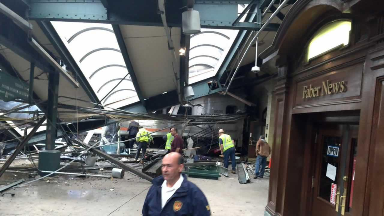 A commuter train crashed into a station in Hoboken, New Jersey on Thursday, September 29, 2016.