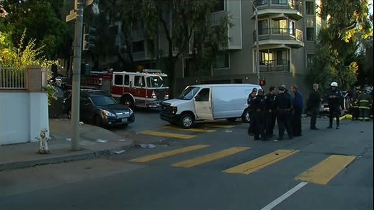 A speeding driver caused a deadly collision on a main thoroughfare in San Francisco. The horrific accident killed a teenager, critically injured his mother and sister and sent a total of six people to the hospital. The crash happened just before 7 a.m. at Pine and Gough Streets on September 27, 2013.