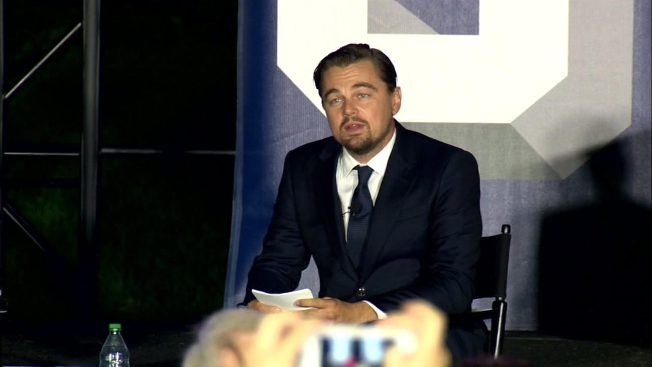 Academy Award winning actor Leonardo DiCaprio on the White House South Lawn as part of a festival of technology and music where he spoke on climate change on Monday, Oct. 3, 2016.