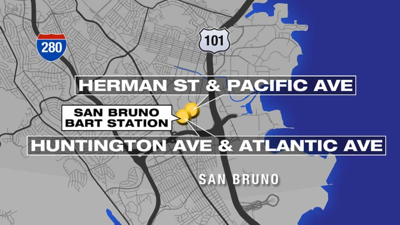 Hazmat situation prompts street closures in San Bruno