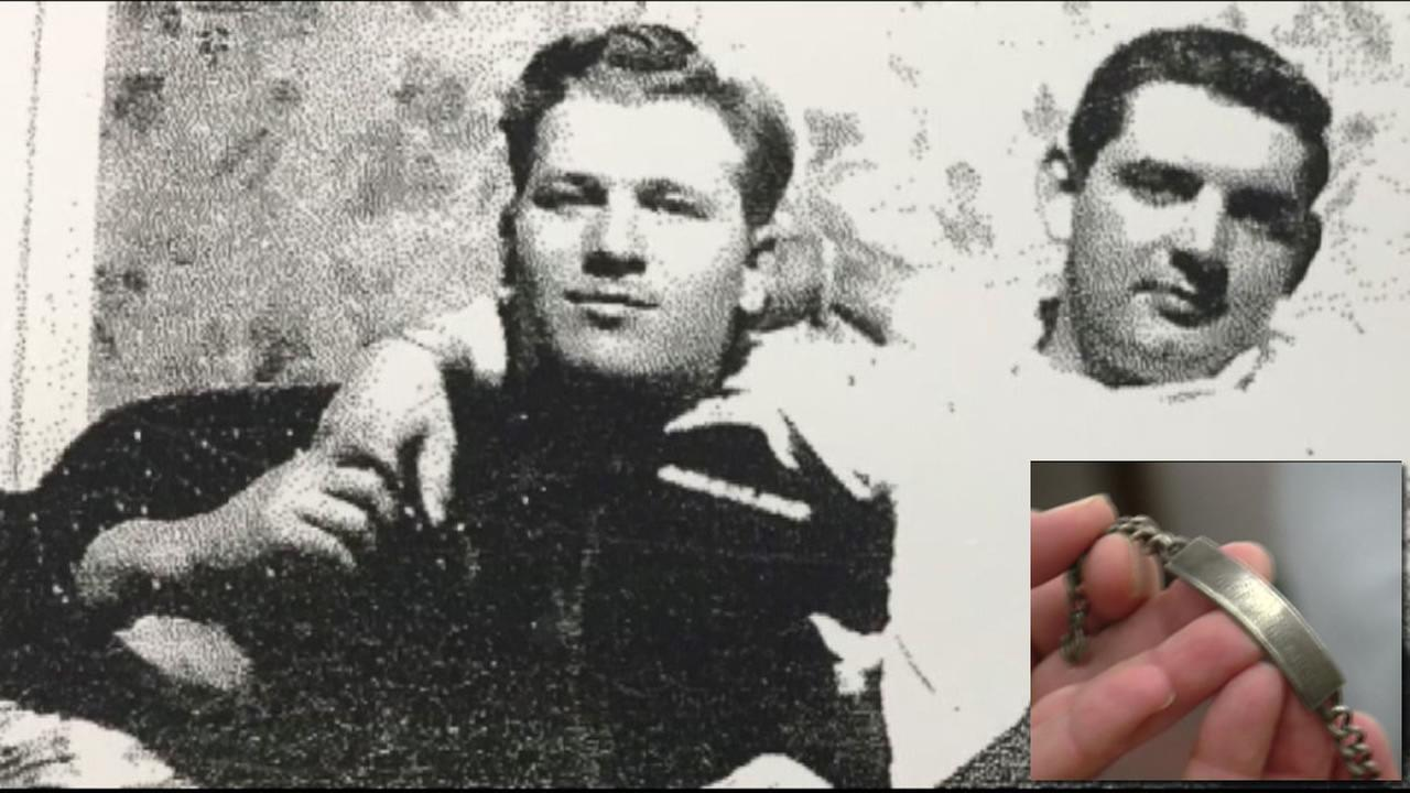 This image shows the long-lost bracelet belonging to World War II veteran Charles Beaudoin.