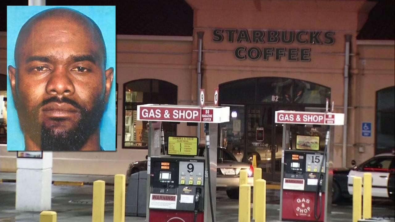 Police identified 41-year-old Adam Powell as the suspect who allegedly tried to shoot officers inside a Starbucks in Vallejo, Calif. on Sunday, Oct. 16, 2016.