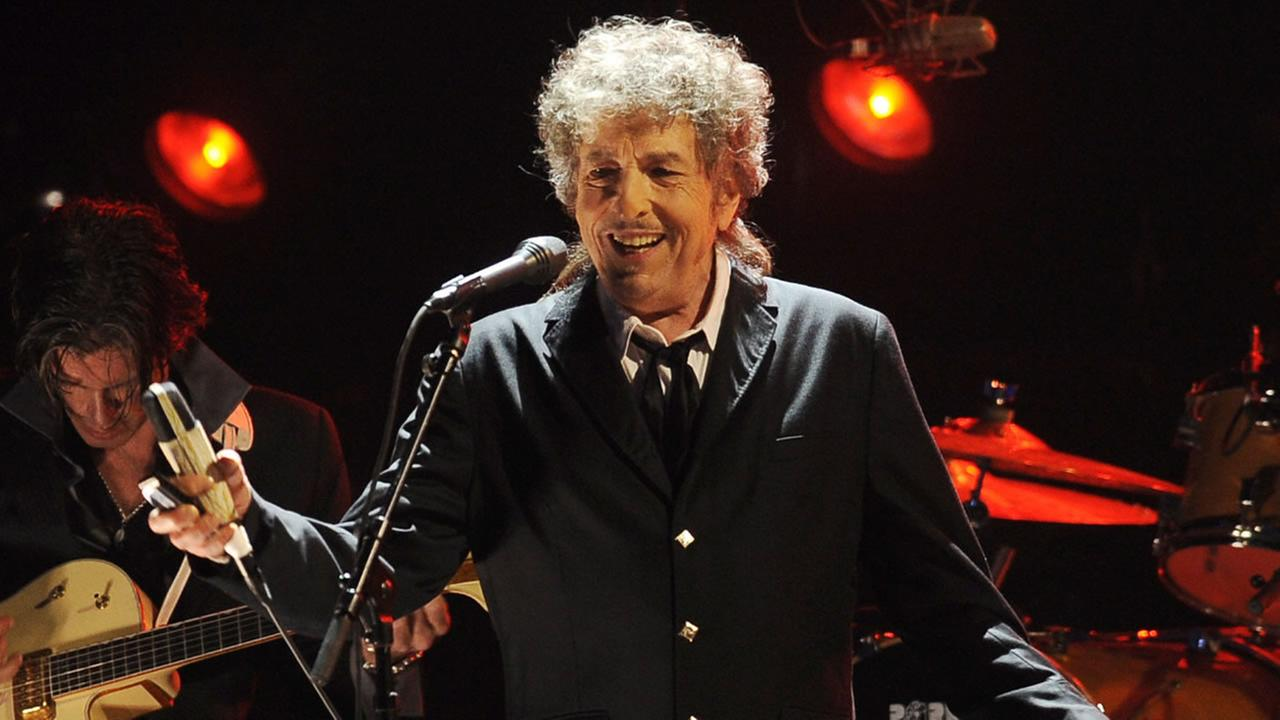 In this Jan. 12, 2012, file photo, Bob Dylan performs in Los Angeles.