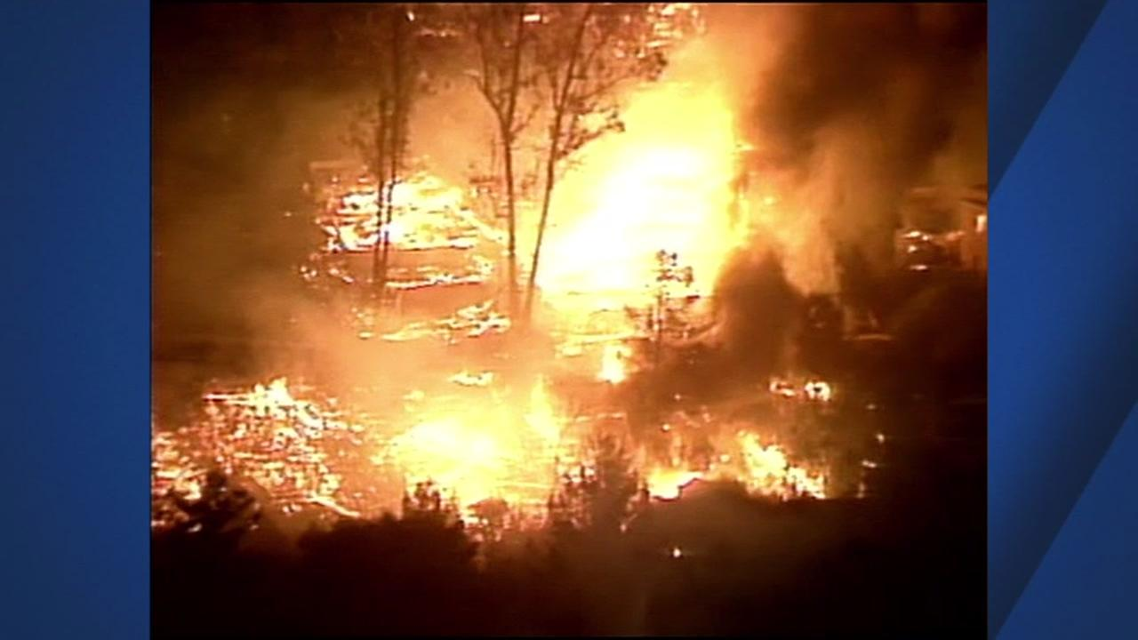 The hills exploded into a fire in Oakland, Calif. on Oct. 19, 1991.