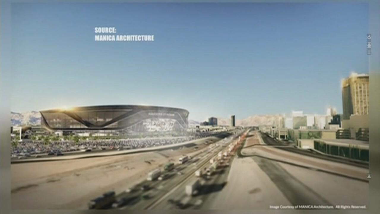 This is an undated concept sketch of the proposed Las Vegas Raiders stadium.