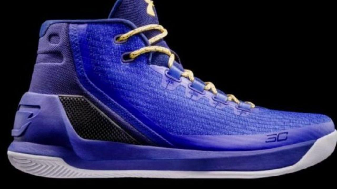 Under Armour unveiled its latest version of Stephen Currys signature shoes called Curry 3 Dub Nation Heritage on Friday, Oct. 21, 2016.