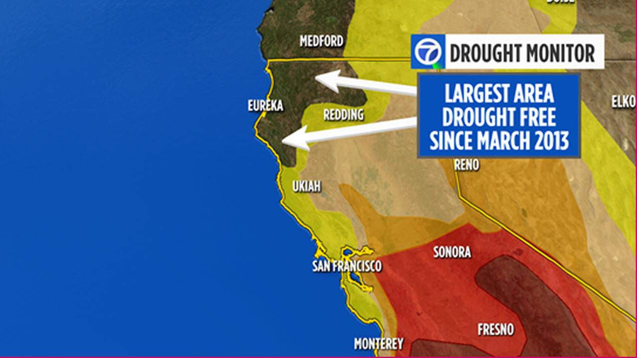 Parts of CA wipe away drought