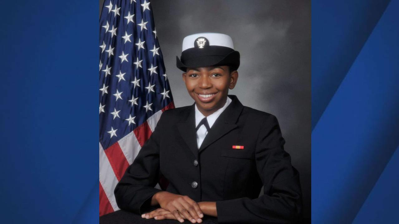 This image shows Naval Officer Danyelle Luckey of Pittsburg. Luckey died in Japan while on hear first assignment.