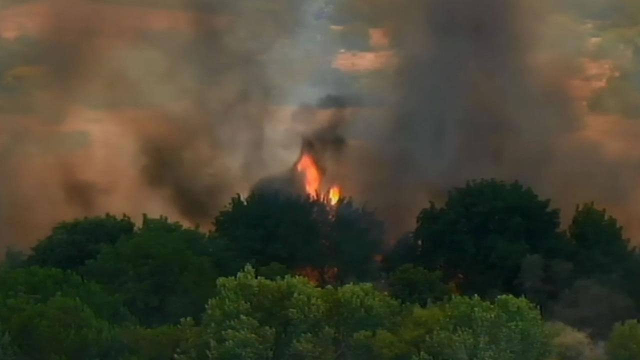 Fire near Cal Expo in Sacramento
